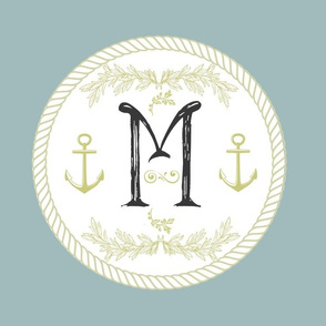 Vintage Nautical Initial-M