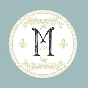 Vintage Royale Initial-M