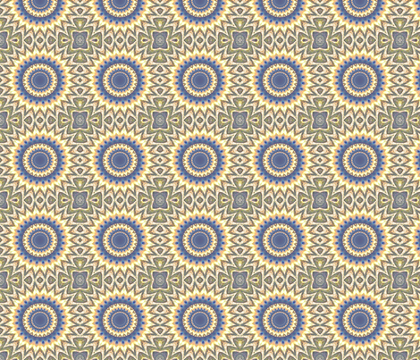 Yellow Zigzag Circles