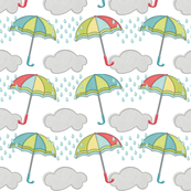 Umbrellas and Rain Clouds