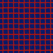 blue and red grid