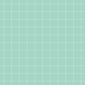 mint and white grid