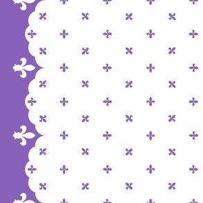 Chrome Crush Border - Purple Fleur