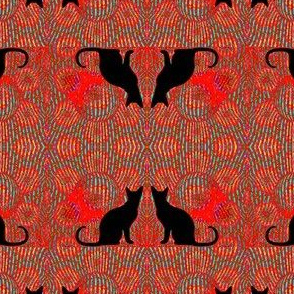 Cat & Bubbles Damask 9