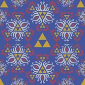 Ornate Triforce Blue