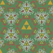 Ornate Triforce Green