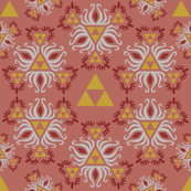 Ornate Triforce Red
