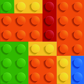 Colored Building Blocks - Jumbo