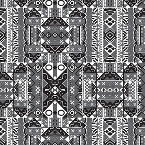 Ethnic Tribal Black and White