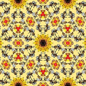 Darker Bees on Yellow