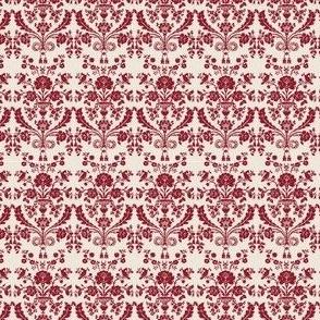 French damask - rouge