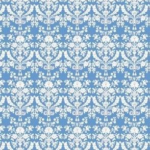 French damask - pompadour blue