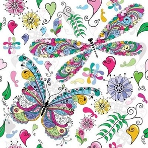 Psychedelic Butterflies - Pink