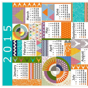 SEAVIEW BEAUTY 2015 CALENDAR TEA TOWEL