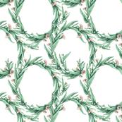 Flowering Eucalypt Tangle in Mint Green