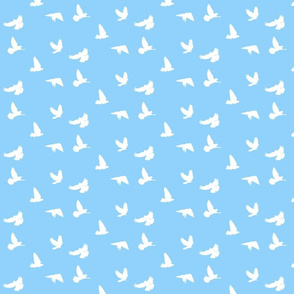 Doves in Flight, Sky Blue