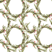 Flowering Eucalypt Tangle in MutedGreen