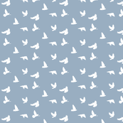 Doves in Flight, Grey Blue