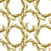 Flowering Eucalypt Tangle in Golden Green