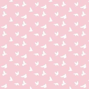 Doves in Flight, Pink