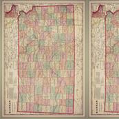 kansas map, small