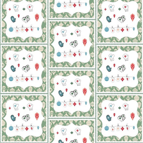 Mittens and Ornaments-Quilt