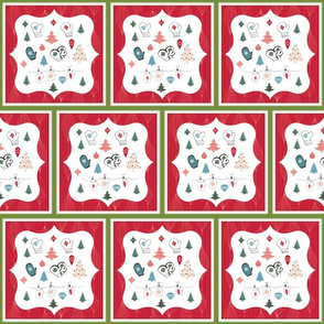 Mittens Red Holiday-Quilt