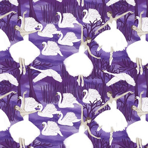 lake in violet