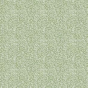 White Hatch Marks on Dark Sage Green