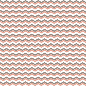 chevron mountain in taupe and coral