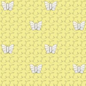 Butterflies in Pale Yellow