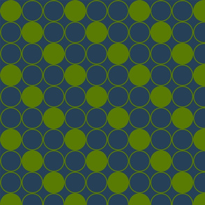 Concentric Circles in Asparagus and Teal