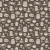 halloween pattern grey