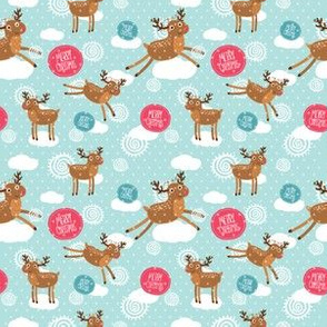 Christmas deer pattern