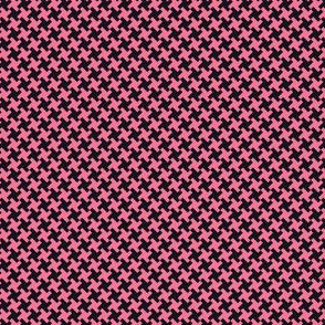 Houndstooth Black&Pink small