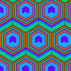 Peacock Hexagon