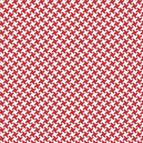Houndstooth Red&White small