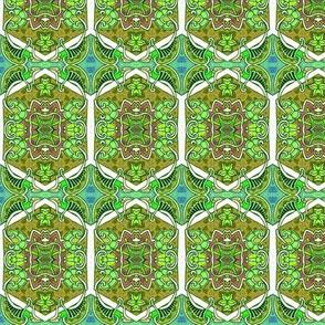 One Star Hexa Paisley Green