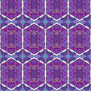 Two Star Hexa Paisley Purple