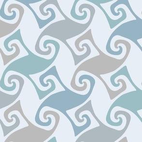 soft blue trellis swirl