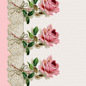 Georgiana  ~ Rose Swag Border Print ~ Dauphine ~ Double