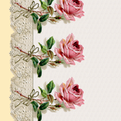 Georgiana  ~ Rose Swag ~ Trianon Cream ~ Double Border