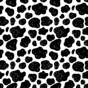 cow sketch pattern
