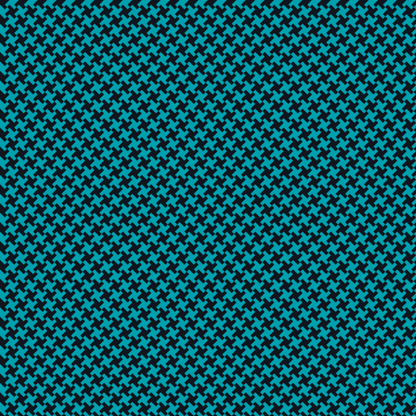 Houndstooth Black&Teal small