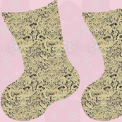Lace Christmas Stocking DIY Cut and Sew Project