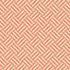 Houndstooth Coral&Cream small