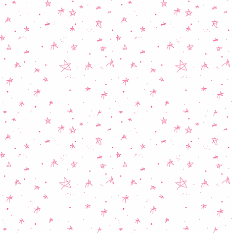 Stars and Galaxies Little Pink Stars (on white)