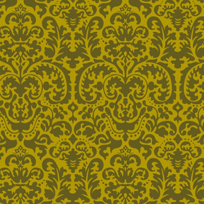 Anna Jacquard gold/green