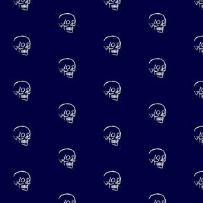 Sketchy Skull on Blue