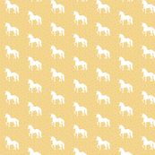 Prancing Unicorn Cupcake Yellow